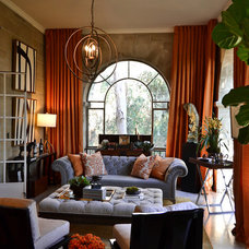 Traditional Living Room by CASA|WASY interior design, inc.