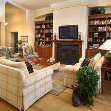 Traditional Living Room by Crawford Builders