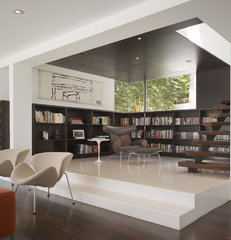 modern living room by Griffin Enright Architects