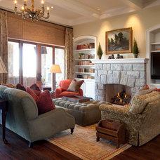 Farmhouse Living Room by Allard Ward Architects