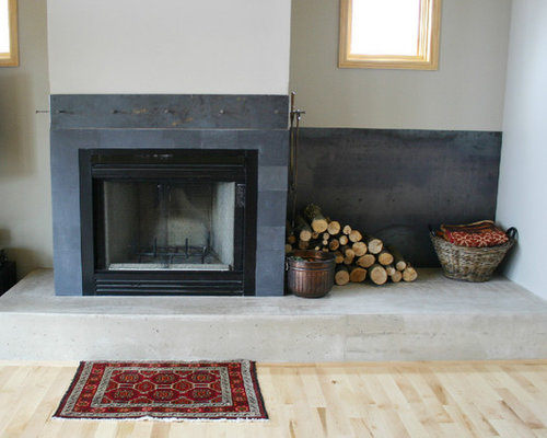 Slate Tile Fireplace Surround Home Design Ideas Pictures Remodel And Decor