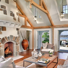 Traditional Living Room by Sean O'Kane AIA Architect P.C.