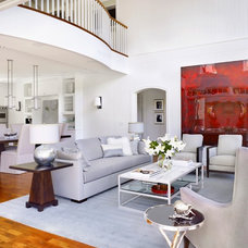 Traditional Living Room by Heffel Balagno Design Consultants