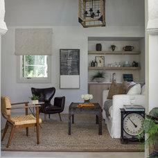 Transitional Living Room by Elizabeth Martin Design