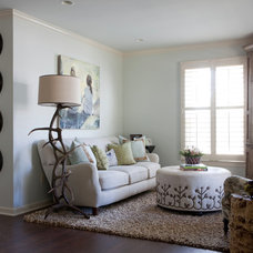 Eclectic Living Room by Red Leaf Interiors, LLC