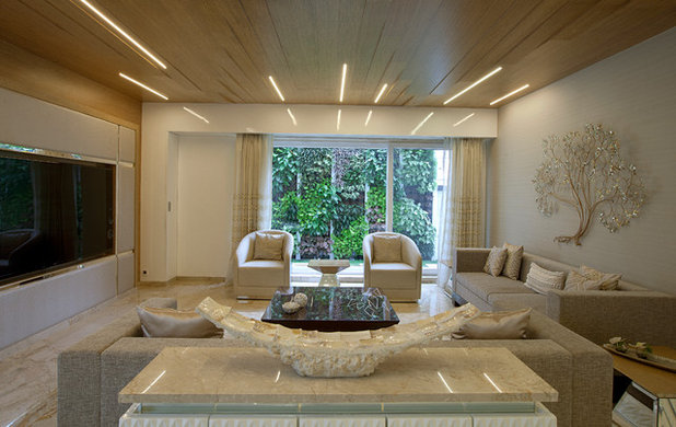 Contemporary Living Room by The BNK Group