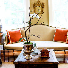 Traditional Living Room by Mina Brinkey