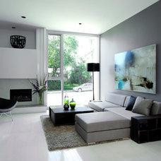 Modern Living Room by Davignon Martin Architecture