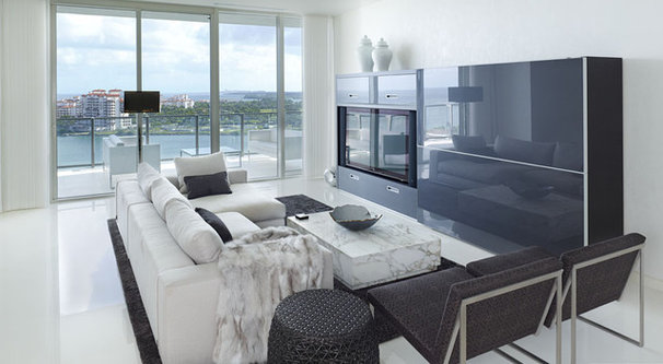 Modern Living Room by Habachy Designs