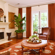 Traditional Living Room by Janice Peters, Distinctive Decor