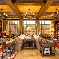 Mediterranean Living Room by Mike Wachs Construction Co., Inc.