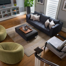 Contemporary Living Room by Pennville Custom Cabinetry