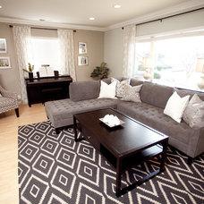 Contemporary Living Room by Blythe Interiors