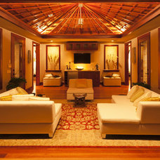 Tropical Living Room by Jeanne Marie Imports