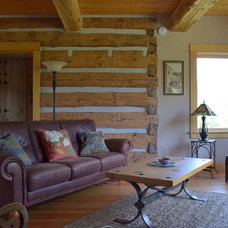 Rustic Living Room by Sarah Greenman
