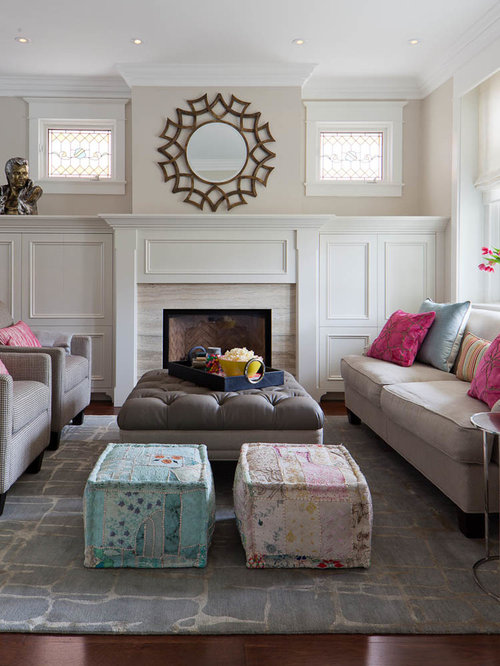 White Fireplace Surround Houzz