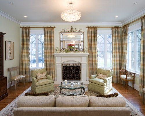 Example Of A Clic Formal And Enclosed Living Room Design In Dc Metro With Standard