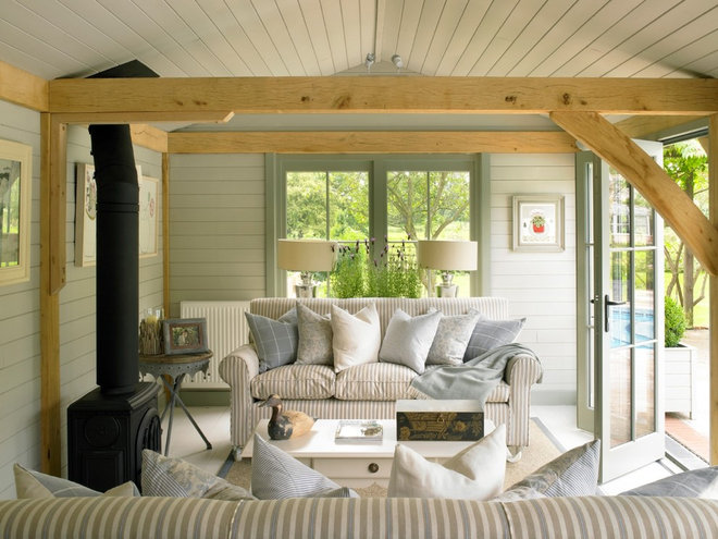 Traditional Living Room by Stephanie Dunning Interior Design