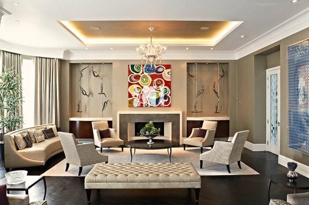 Contemporary Living Room by FiSHER iD