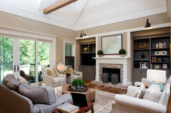 Farmhouse Living Room by Court Atkins Architects