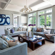 Traditional Living Room by Nanjoo Design, Inc