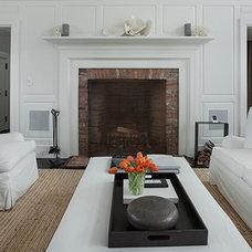 Beach Style Living Room by John Hummel & Associates Custom Builders