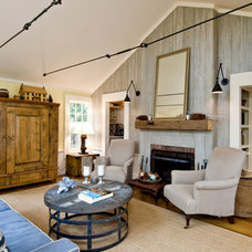 Beach Style Living Room by Gary Courtier Home Improvements