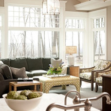 Transitional Living Room by Hendel Homes