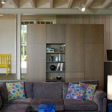 Farmhouse Living Room by John Hummel & Associates Custom Builders