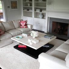 Eclectic Living Room by skatemoderne/michelle bergeron design ltd.