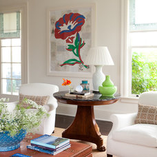 Transitional Living Room by ALICE BLACK INTERIORS