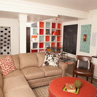 Living room - transitional living room idea in Nashville