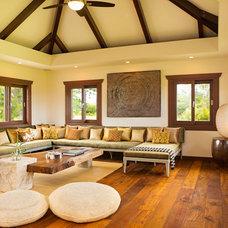 Asian Living Room Hanalei Bay Vista Estate