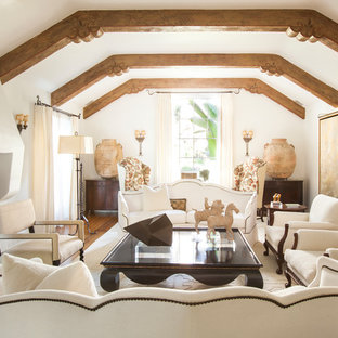Inspiration for a mediterranean living room remodel in Los Angeles