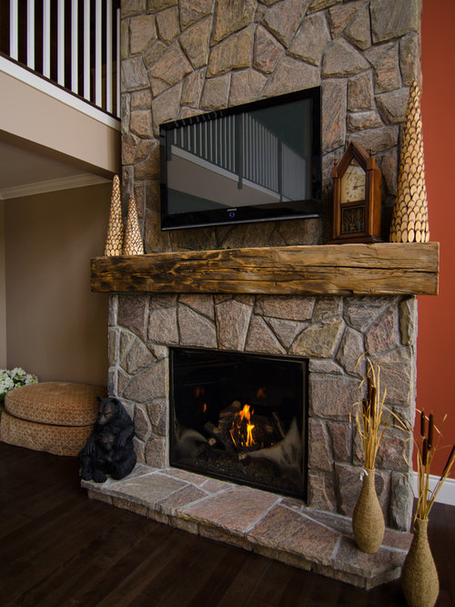 Barn Beam Mantel Ideas Pictures Remodel And Decor