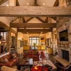 Gamble Residence - Rustic - Living Room - Denver - by MQ ...