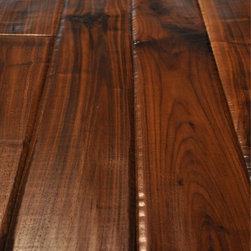 Hand Scraped - Sculpted Hardwood Floors - Hand Scraped American Walnut Hardwood Flooring.