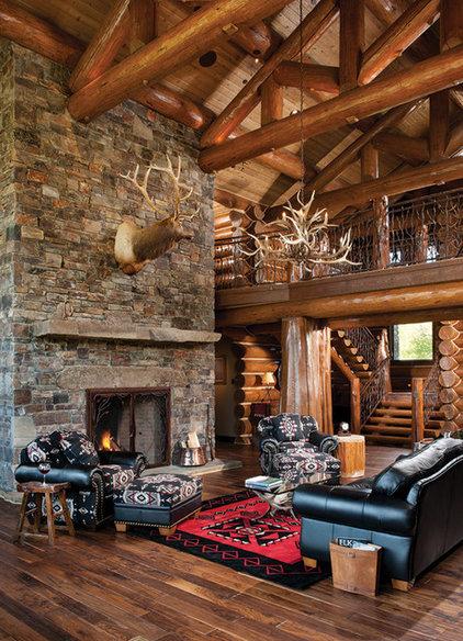 Rustic Living Room by M.T.N Design