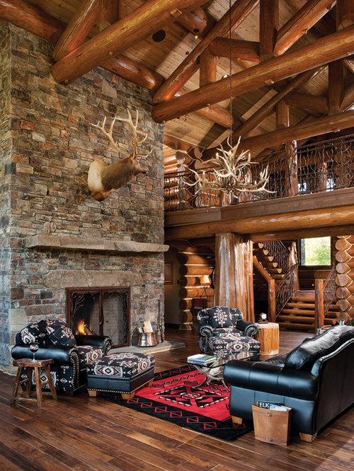 Cabin Living Rooms Home Design Ideas Pictures Remodel And Decor rustic log cabin living room  luxury pigeon
