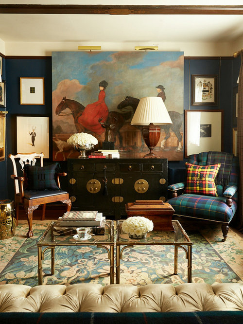 Classic Living Room Decor: Tartan Plaid Ideas, Pictures, Remodel And Decor