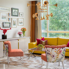 Room Tour: A Living Room That Sings Cheerfully
