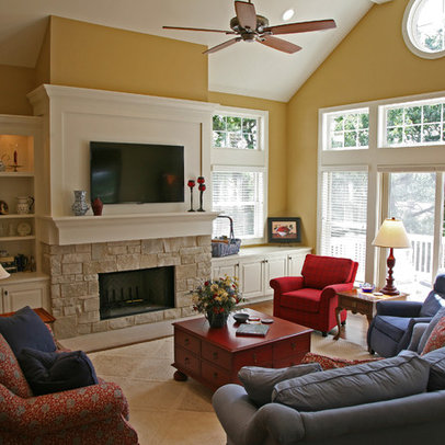 Milwaukee Tv Above Fireplace Home Design Ideas, Pictures, Remodel and ...