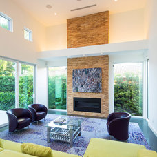 Modern Living Room by W.A. Bentz Construction, Inc.