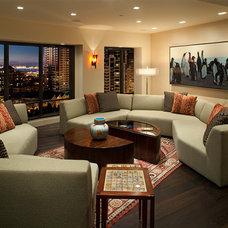 Contemporary Living Room by Anjum Razvi, ASID - Razvi Design Studio