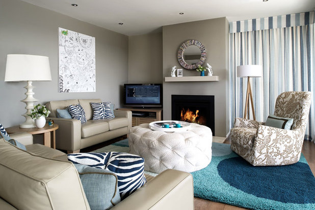 Contemporary Living Room by Brett Mickan Interior Design