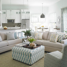 Transitional Living Room by Krista Watterworth Design Studio