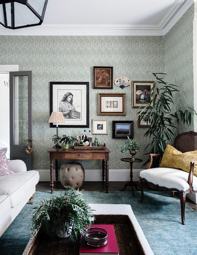 Traditional Living Room by Lisa Burdus Interior Design
