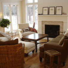 Transitional Living Room by Etched In Stone