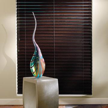 Hardwood Window Blinds - Red Oak