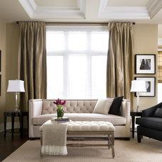 Traditional Living Room by Jane Lockhart Interior Design